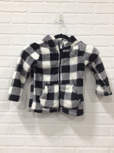Days Like This Plaid Stripe Elbow Patch Long Sleeve Sweater Boat Neck in Black - Filly Flair