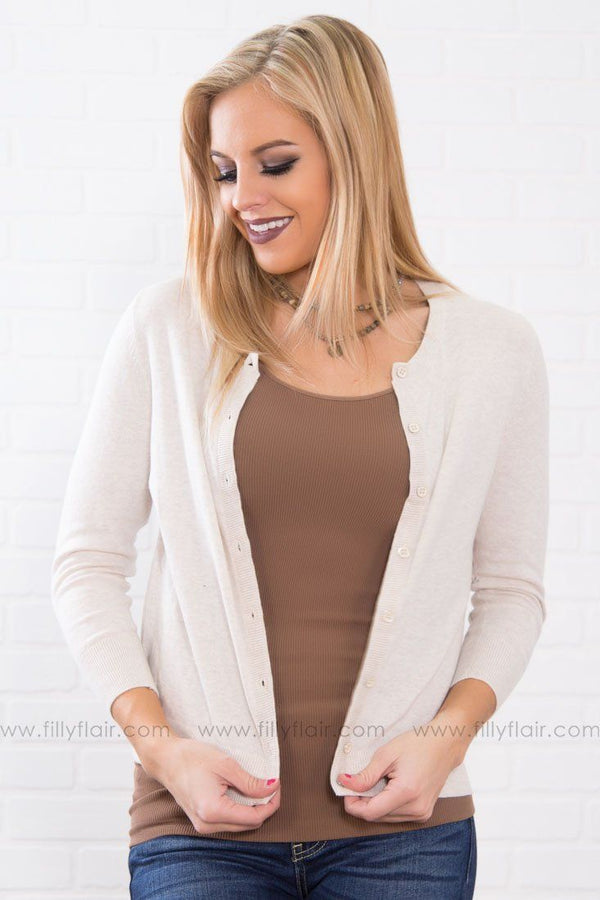 Autumn Button Down Cardigan in Ivory
