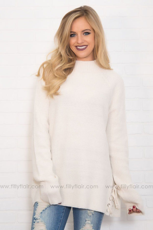 Surprise Yourself Long Sweater in Ivory