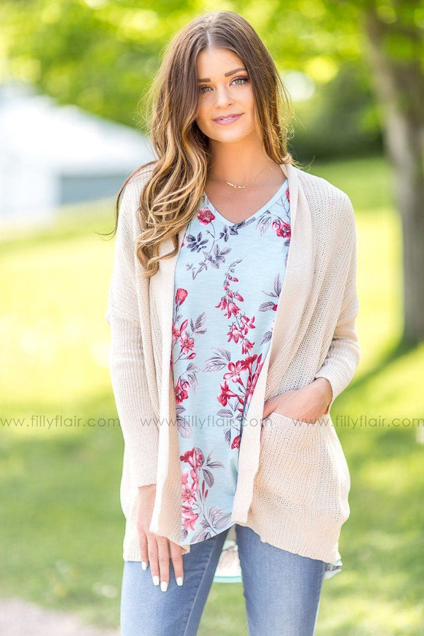 From My Heart Cardigan in Beige