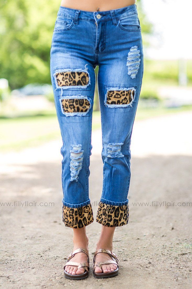 Wild and Free Cheetah Cuff Jeans