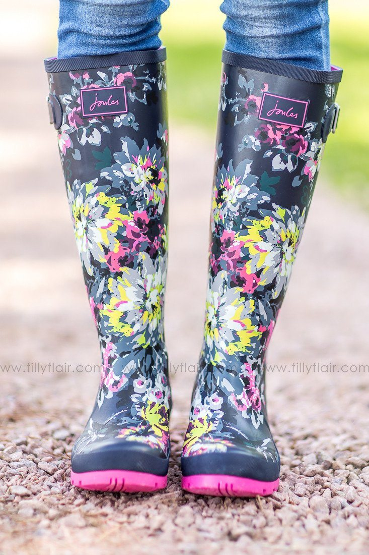 Joules Bright Floral Rain boots
