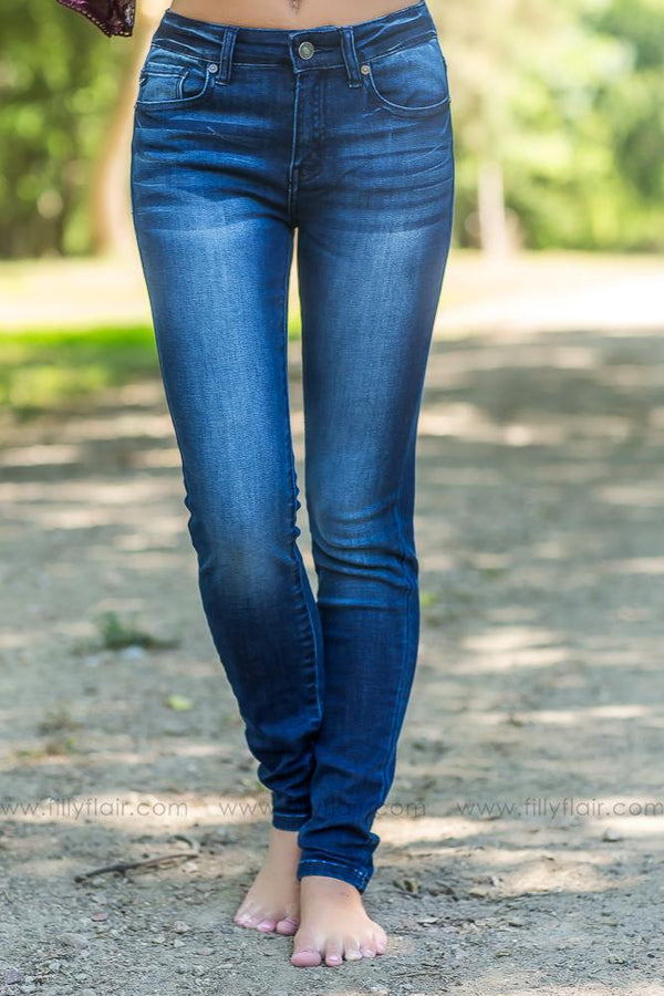 Holly-Cota Kan Can Dark Wash Skinny Jeans - Filly Flair
