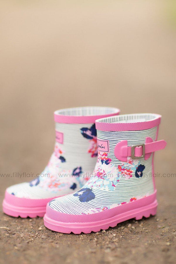 All For Floral Joules Kids Rain Boots