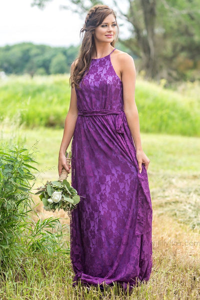 Juliette Bridesmaid Dress In Purple - Filly Flair
