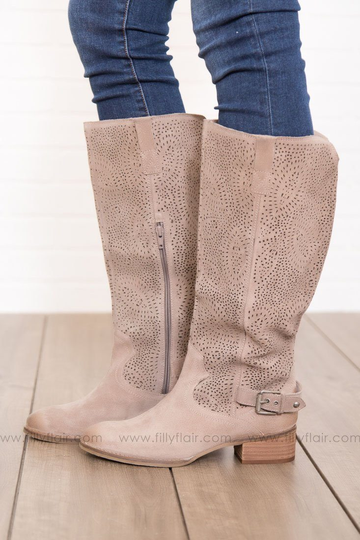 Naughty Monkey Ziba Tall Boots in Taupe