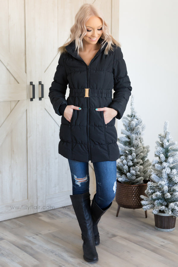 Pre-Order *Black Lady Anorak Jacket with Faux Fur Hood* Ships Apx 12.21 - Filly Flair