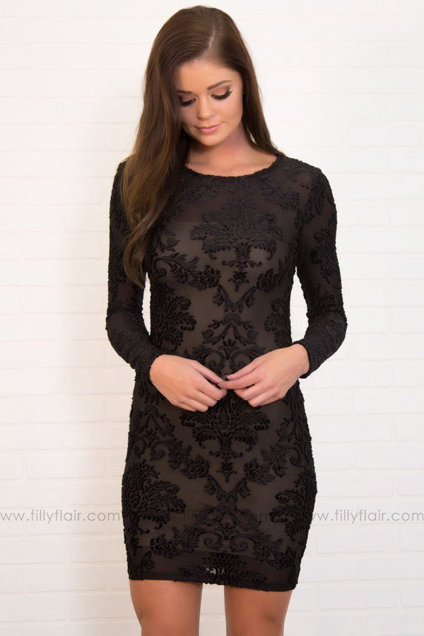 Making Memories Body Con Dress in Black