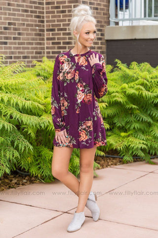 Wrapped Up in You Mustard Floral Dress
