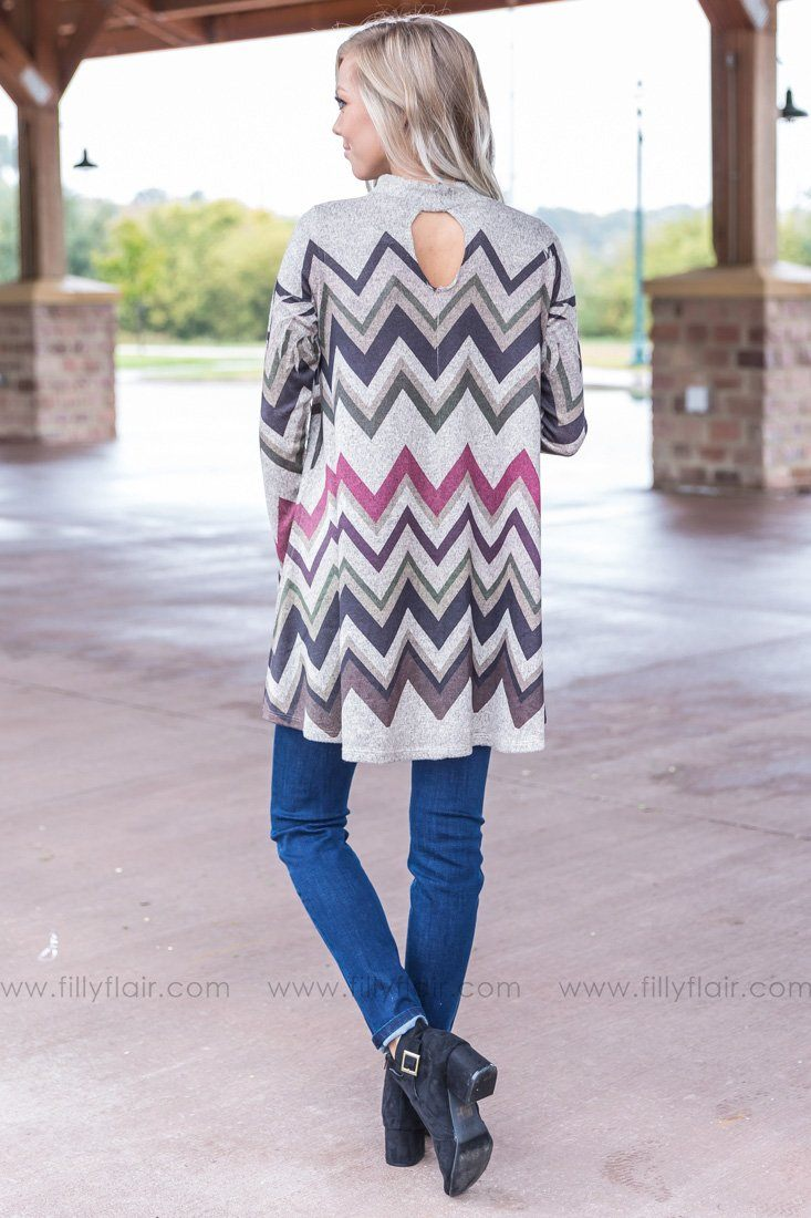 Everyday Love Chevron Tunic Dress - Filly Flair