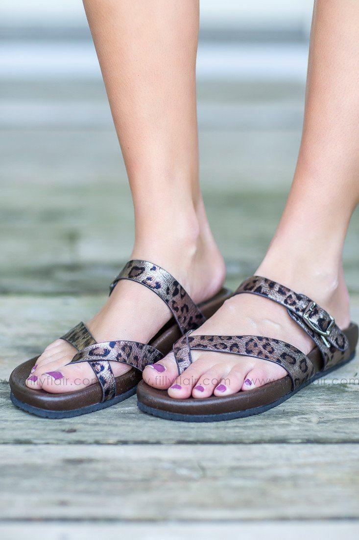 Neva Leopard Strappy Sandals