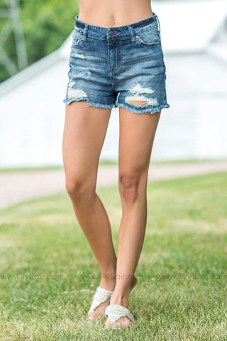 Ready for Summer Medium Wash Medium Rise Jean Shorts