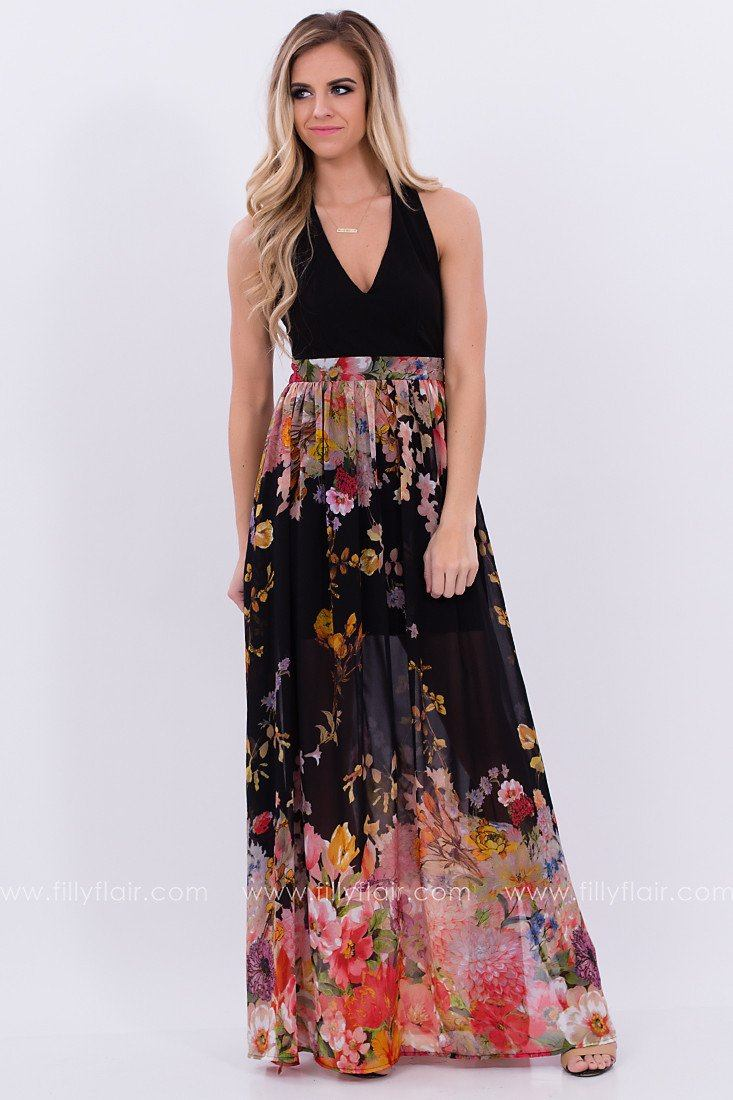 Border to Border Floral Maxi Dress - Exclusive