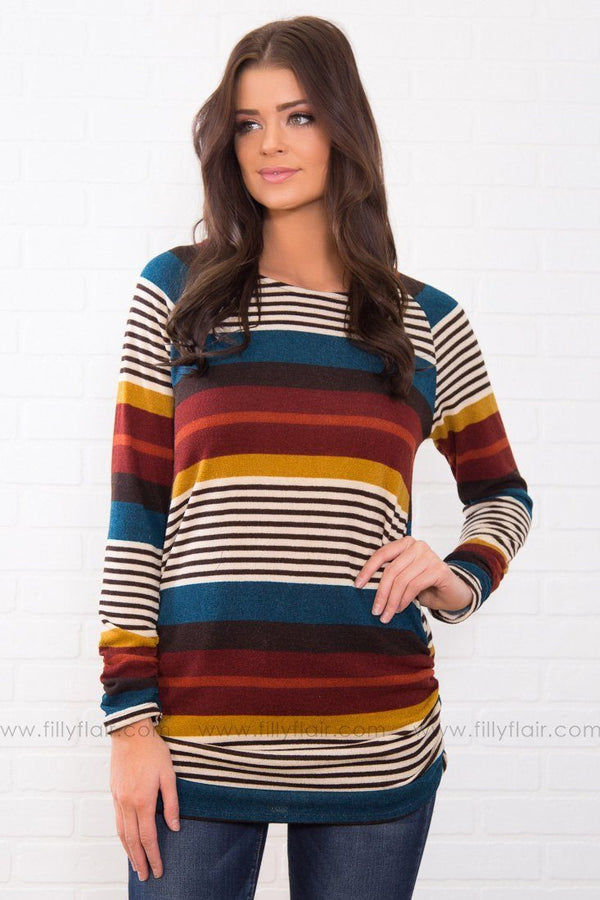 All About Them Stripes Multi Color Tunic