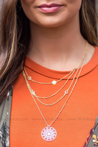 Give It My Best Silver Layered Necklace
