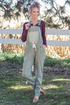 Denim Dream Overalls in Olive - Filly Flair