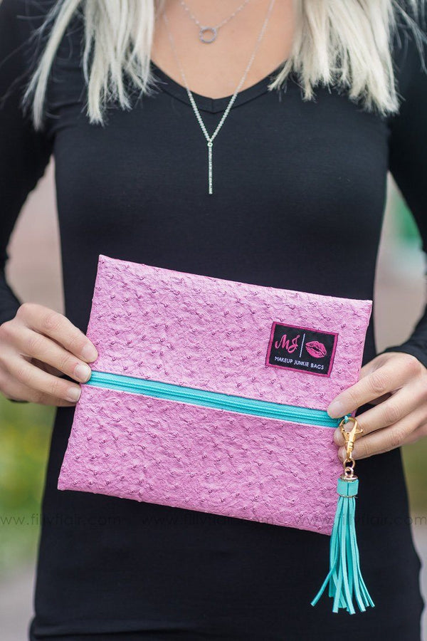 Makeup Junkie Bag in Pink Small - Filly Flair