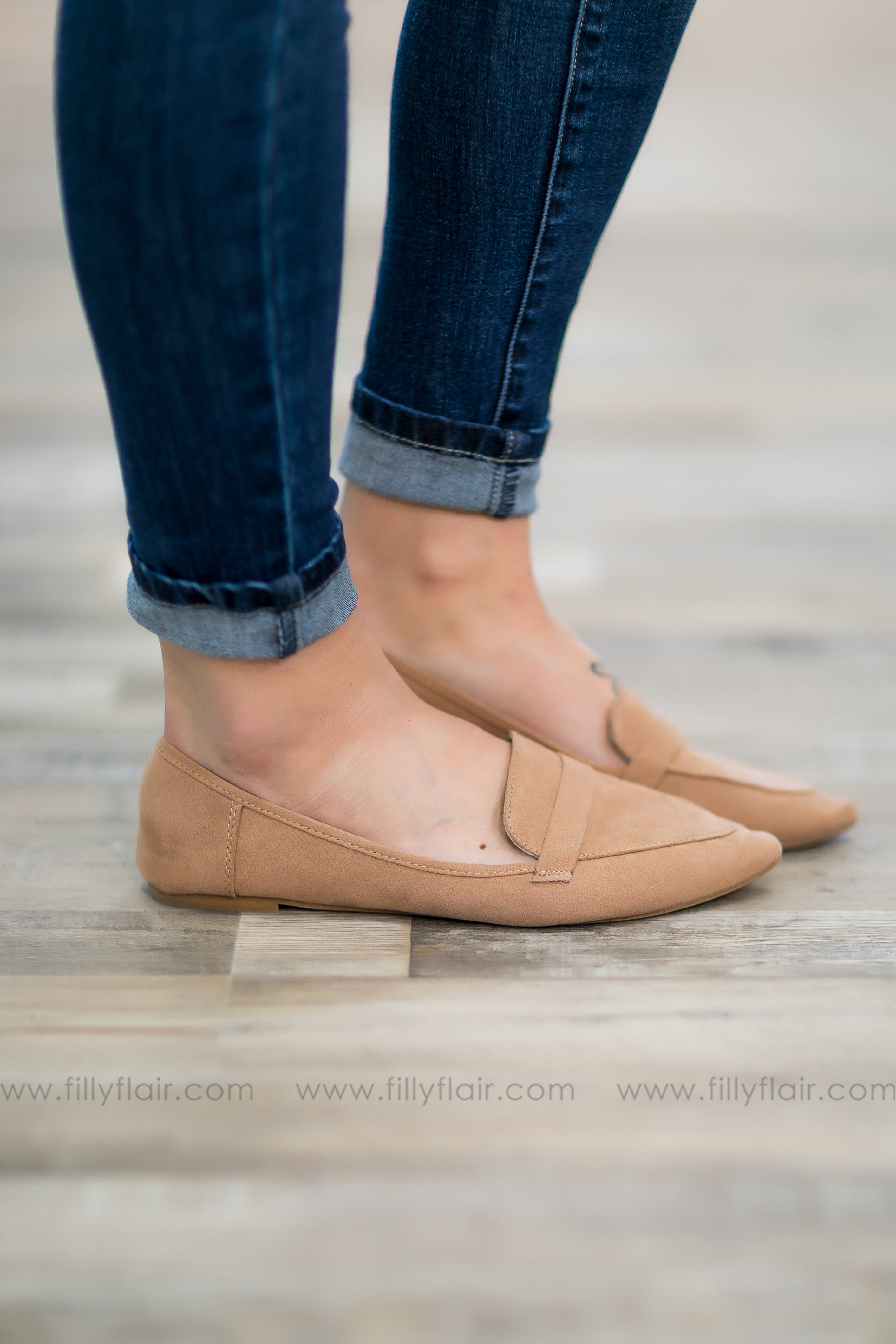 Take A Step Slip on Flats in Light Camel - Filly Flair