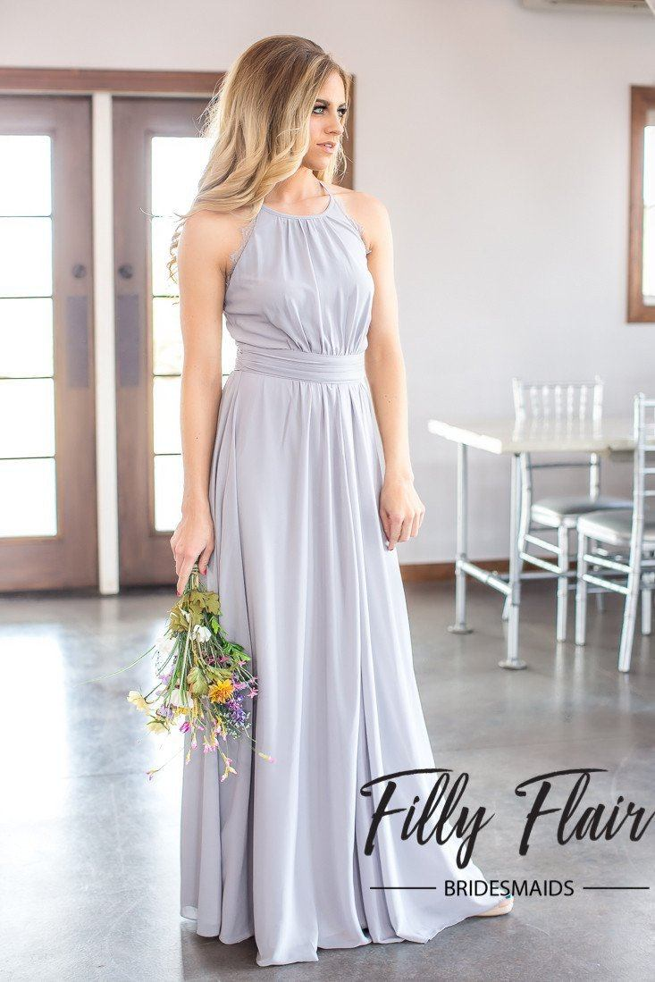 Bridesmaid Dress Grey