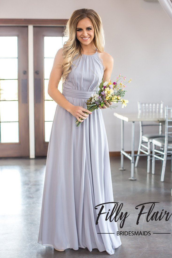 Adeline bridesmaid dress in grey filly flair adeline bridesmaid dress in grey ombrellifo Images