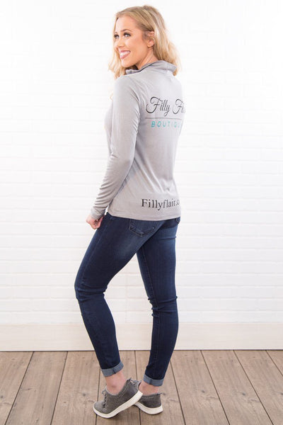 Filly Flair Quarter Zip in Grey - Filly Flair