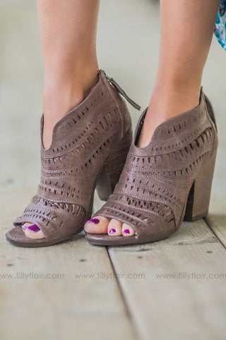 99370cf5198fde Not Rated Groove Thang Bootie in Taupe.  59.99. You Found Me Gladiator  Sandal in Camel