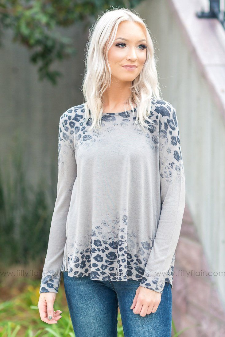 Lost Along The Way Leopard Print Long Sleeve Top in Taupe - Filly Flair