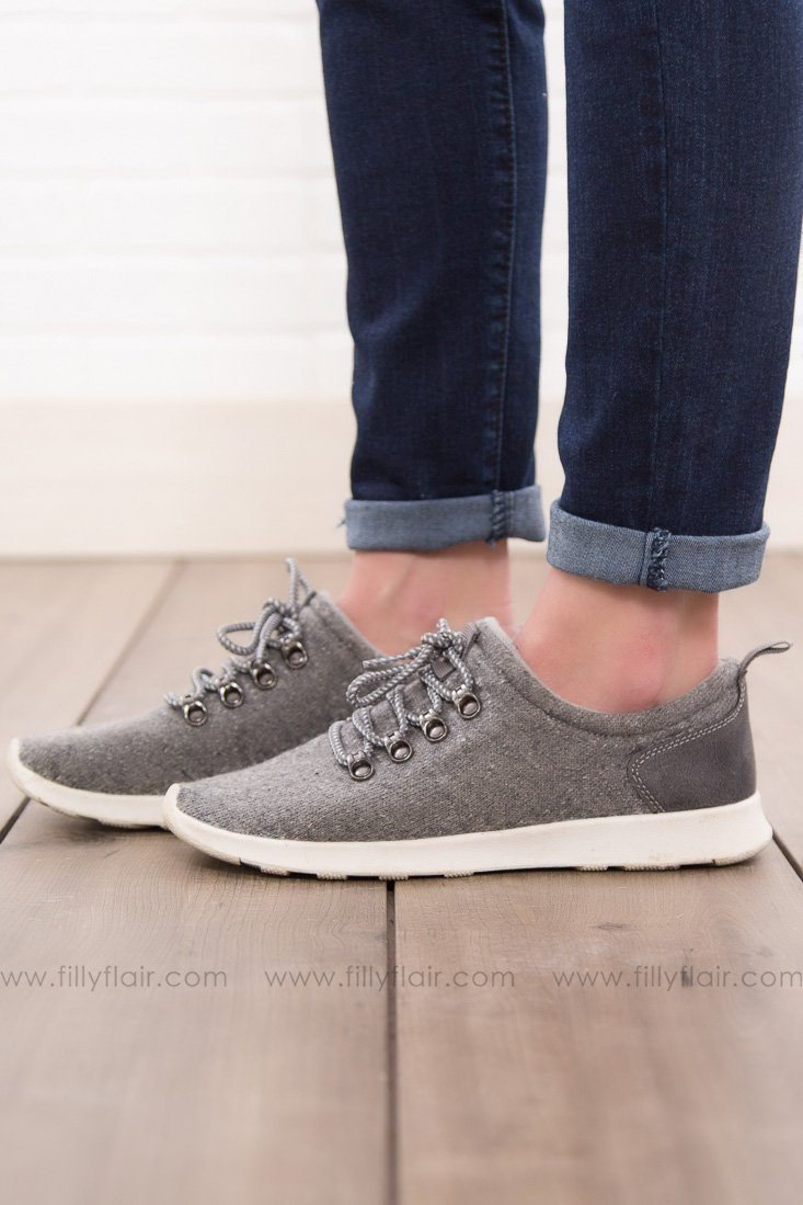 Not Rated Denise Grey Sneakers - Filly Flair