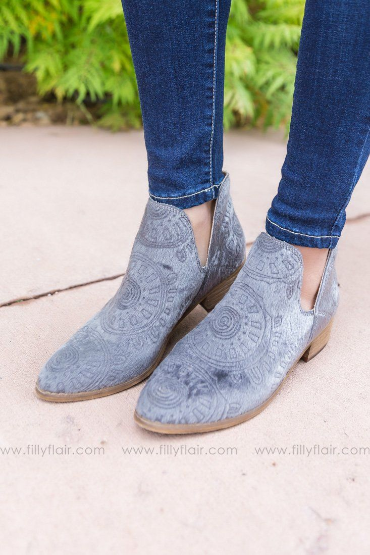 Mi iM Ellen Grey Booties - Filly Flair