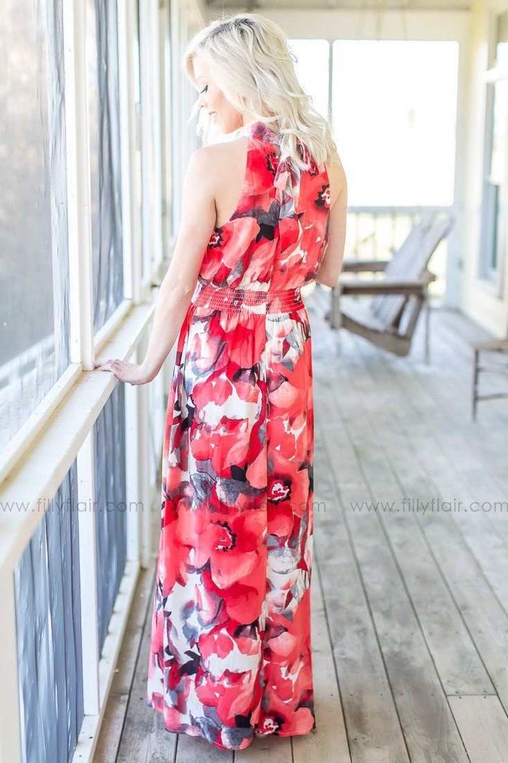 High Standards Floral Maxi Dress in Red - Exclusive