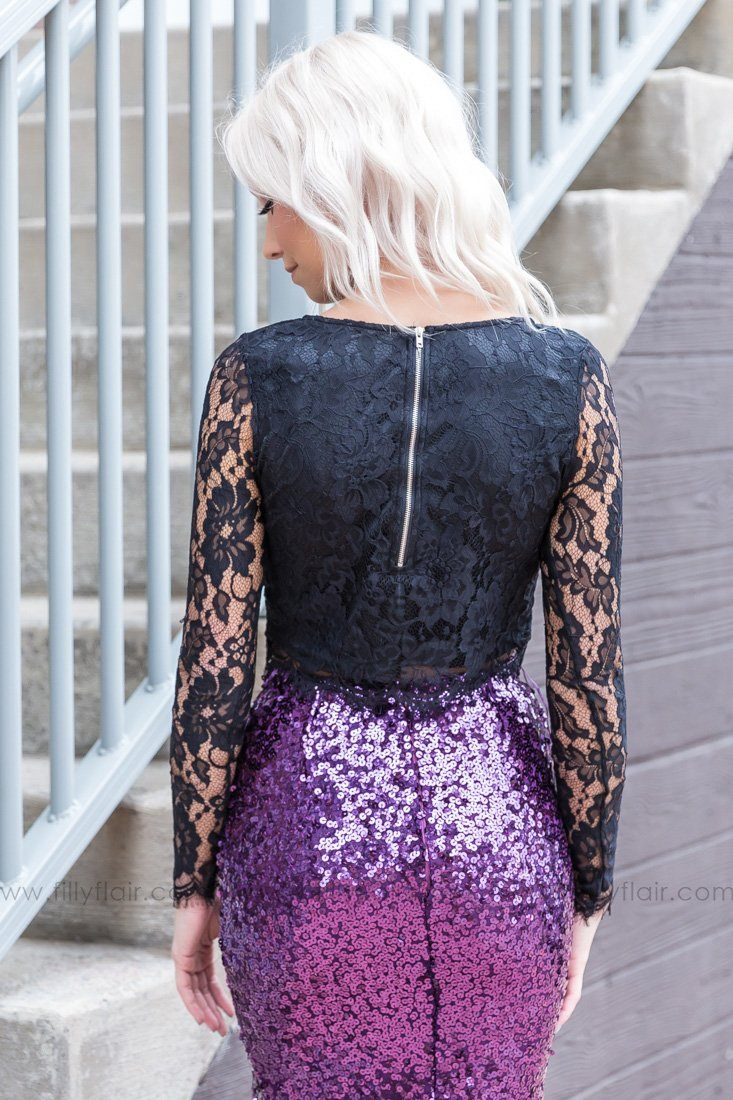 I'll Always Be Long Sleeve Lace Top In Black - Filly Flair