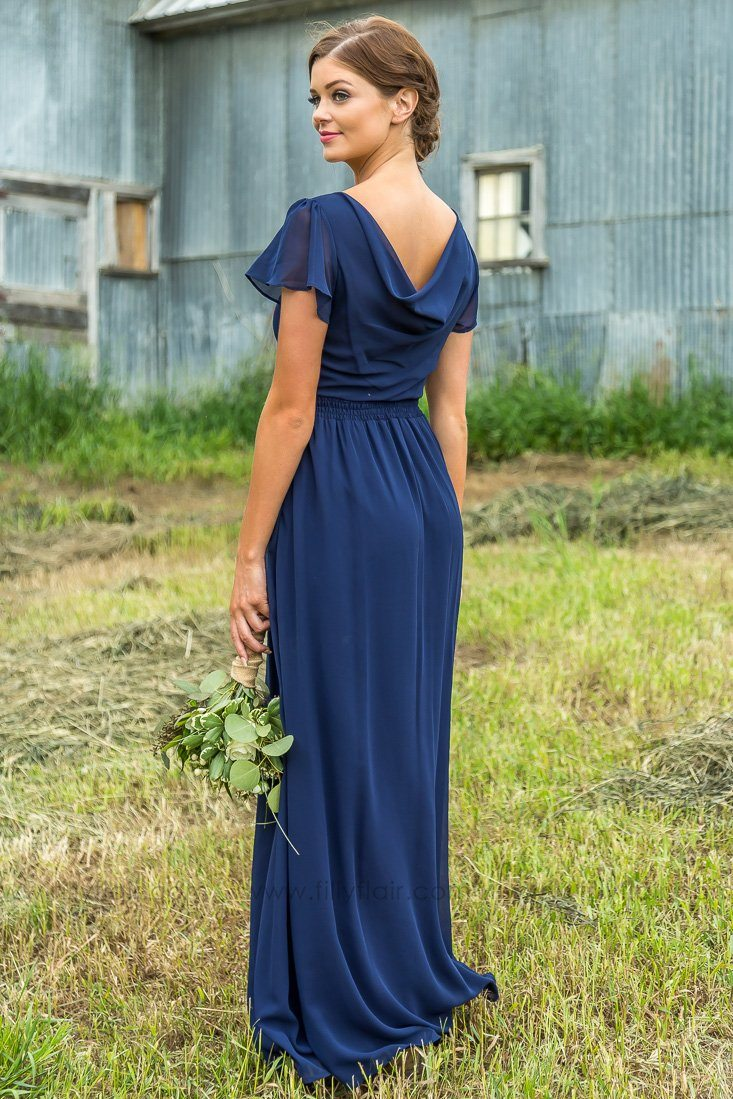 Bridesmaid Dress with Sleeves