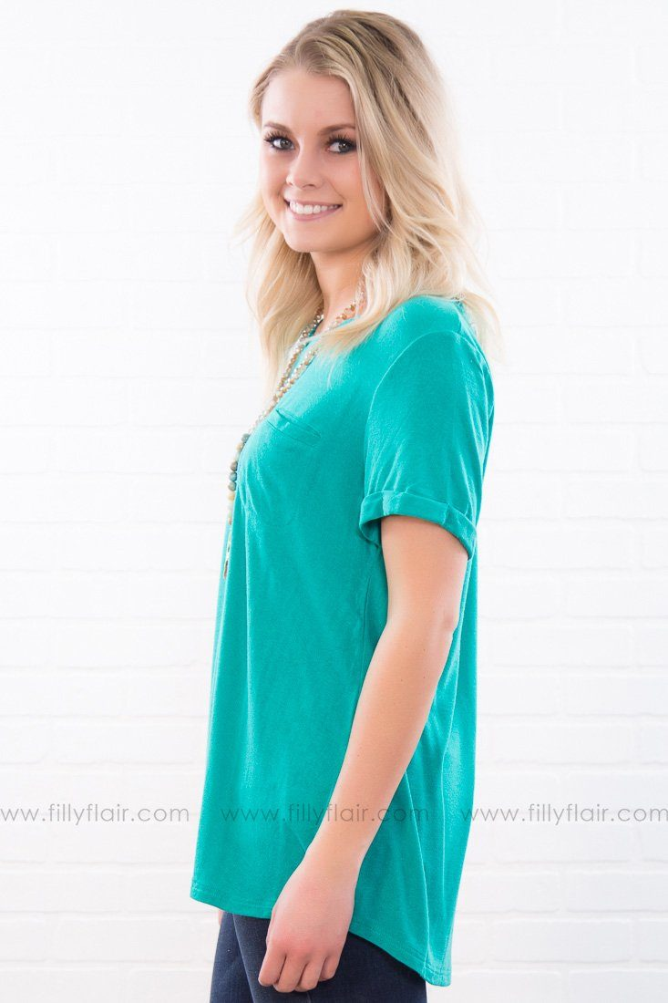 Need You Now Relaxed Fit Tee In Emerald