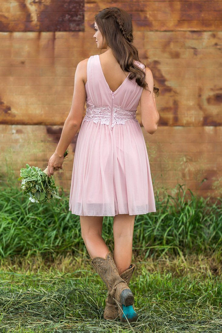 Savannah Bridesmaid Dress In Pink - Filly Flair