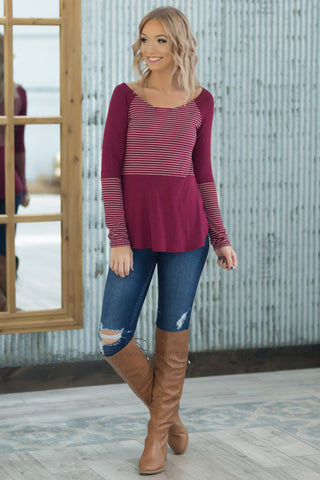 Pre-Order*In the Air Snowflake Button Detail Long Sleeve Top in Red*Ships Apx. 12.17