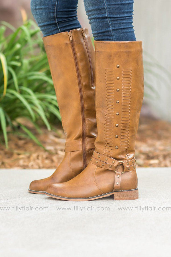 *090618 Pierre Dumas Bologna Tall Boots in New Tan - Filly Flair
