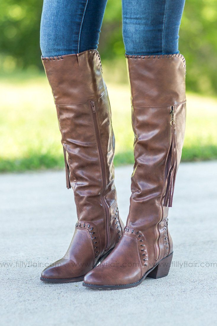 Major Brown Tall Boots - Filly Flair