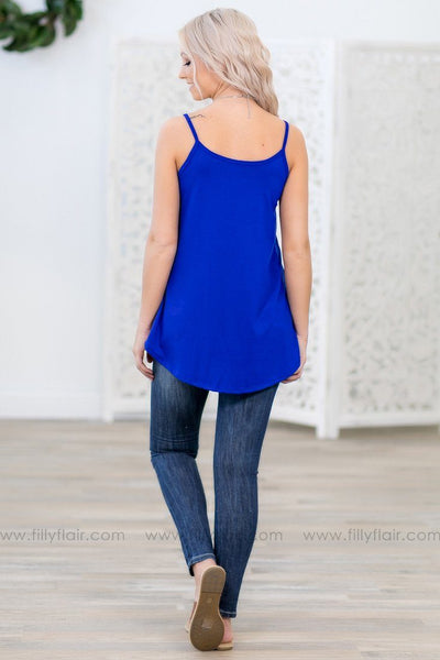 Take Me As I Am Reversible Tank Top in Royal Blue - Filly Flair