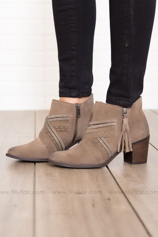 Naughty Monkey Noah Booties in Taupe