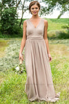 Isabella Bridesmaid Dress In Taupe - Filly Flair