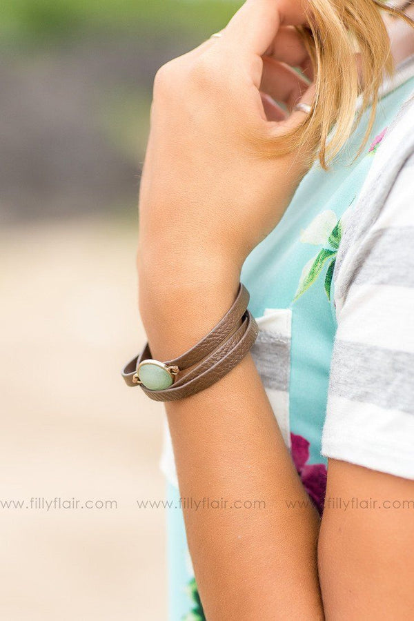 rock leather wrap bracelet