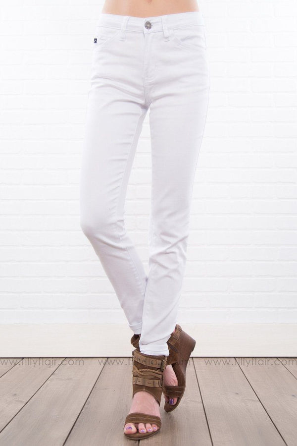 Kandace Kan Can White Ankle Jeans - Filly Flair