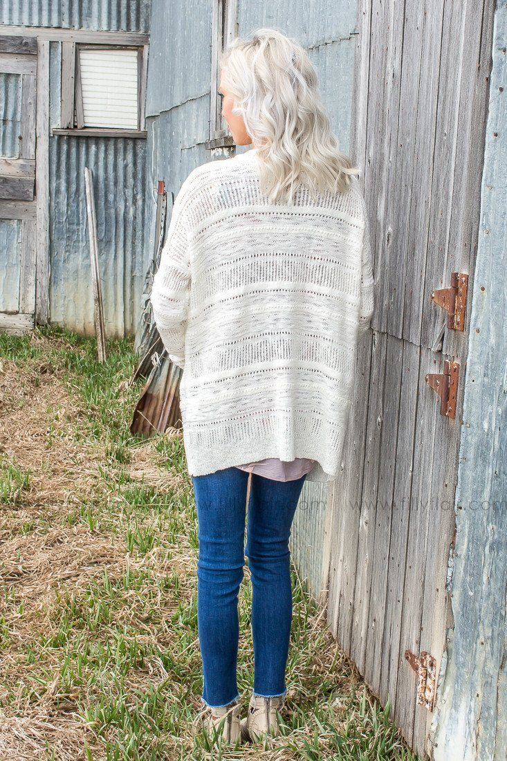 Devoted To You Cardigan in Ivory