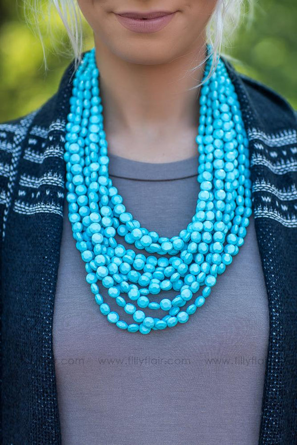 Layered up Turquoise Beaded Necklace - Filly Flair