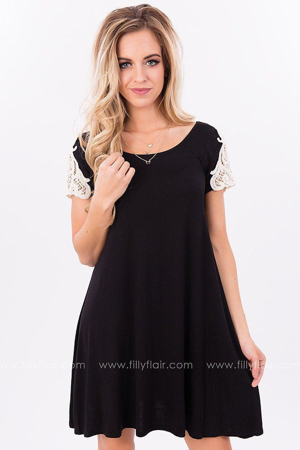 All the Right Lace Tunic in Black