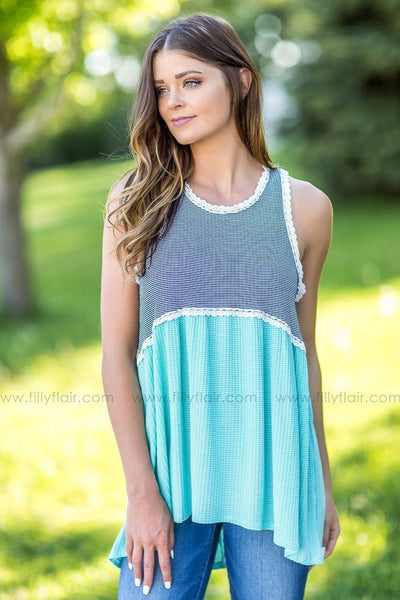 Total Perfection Striped Babydoll Tank