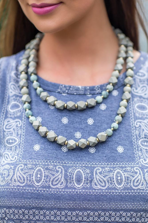 Calms the Sea Layered Natural Necklace - Filly Flair