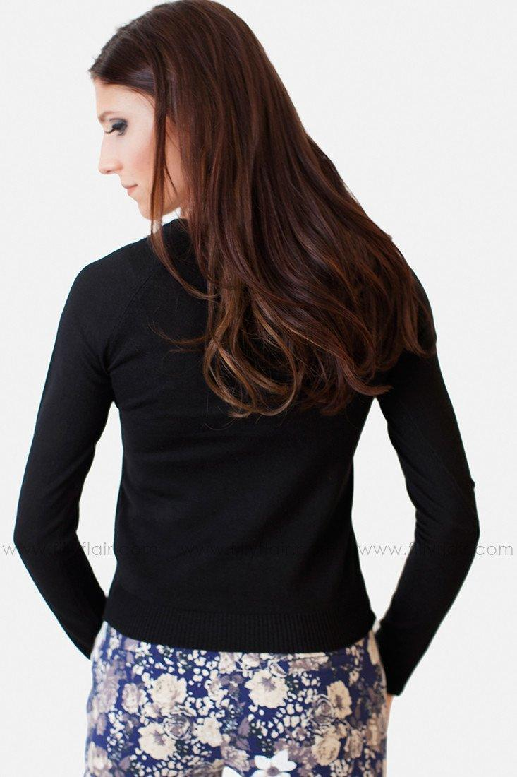 Capable and Classy Sweater in Black