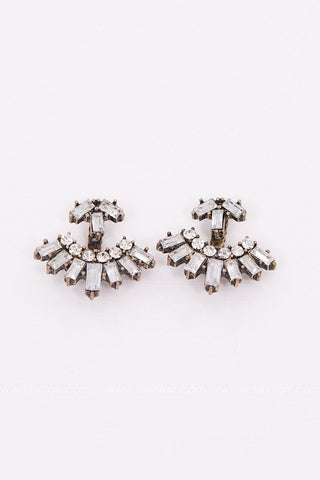 Cleo Inspired Rhinestone Earrings