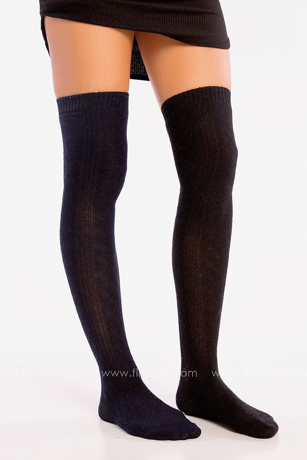 Over the Knee Socks in Black